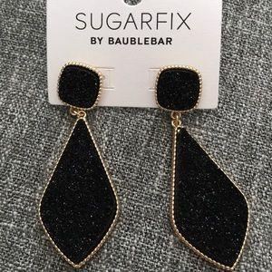 NWOT Black and Gold Baublebar Earrings